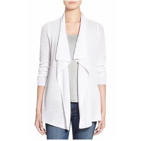 3a31bfbad3 Eileen Fisher Sweaters - Eileen Fisher White Organic Linen Drape Cardigan M